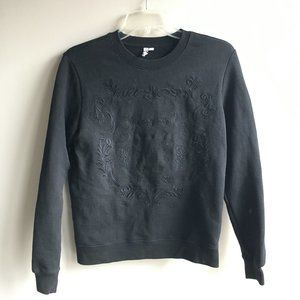 & Other Stories embroidered crewneck sweater